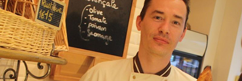 Portrait de Sébastien Mauvieux, lauréat du 1er prix de la baguette de Paris